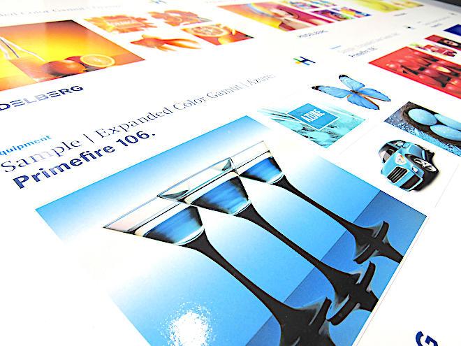 Primefire106の印刷サンプルも展示している