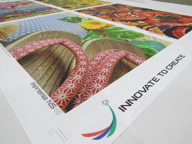 エンボスレザックのような凹凸のある用紙にも問題なく印刷することが可能