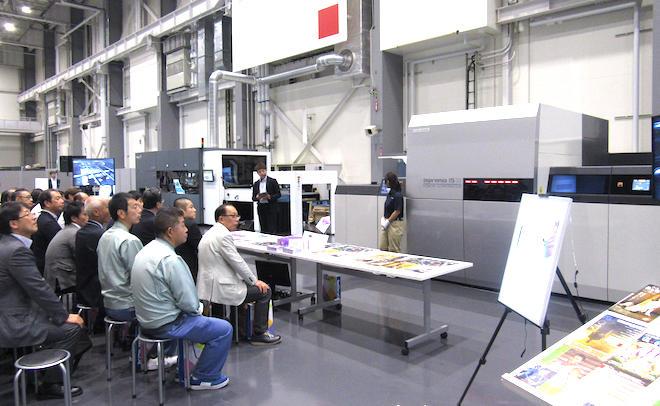 デジタル製品ではImpremia IS29とハイコンユークリッドによる印刷・加工のデモを敢行