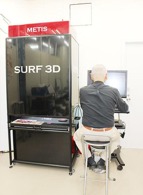 3Dテクスチャースキャナ「SURF 3D」