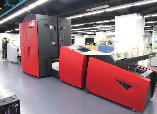 ホワイトカンバスMON-NAKAに設置されたデジタル印刷機「XEIKON 9800」