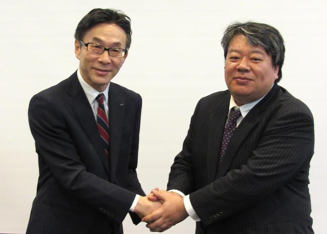 伊藤常務(左)と池田社長