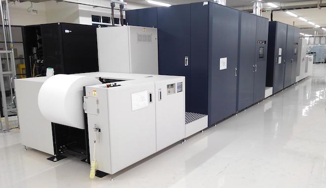 沼津工場に設置されている高速デジタル印刷機