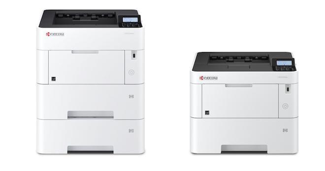 モノクロA4プリンター「ECOSYS P3160dn」(左)とモノクロA4プリンター「ECOSYS P3145dn」