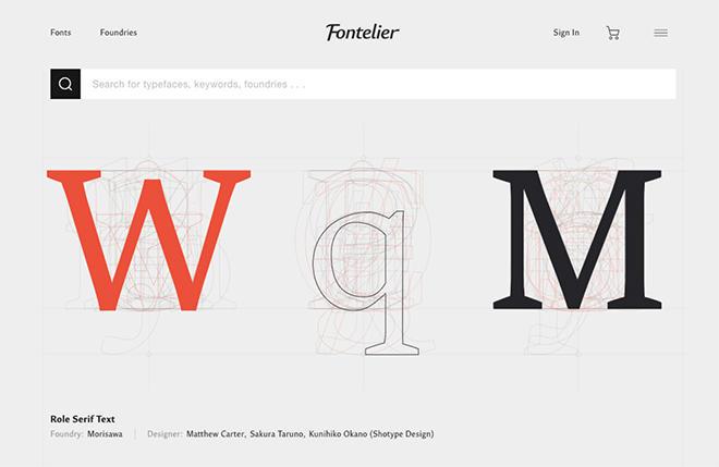 「Fontelier」サービスサイト