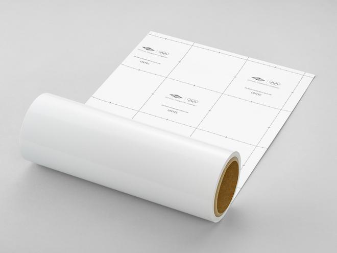 オリンピックマークを印刷した専用の剥離紙を使用