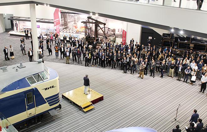 京都鉄道博物館の見学前に開催されたウェルカムレセプション