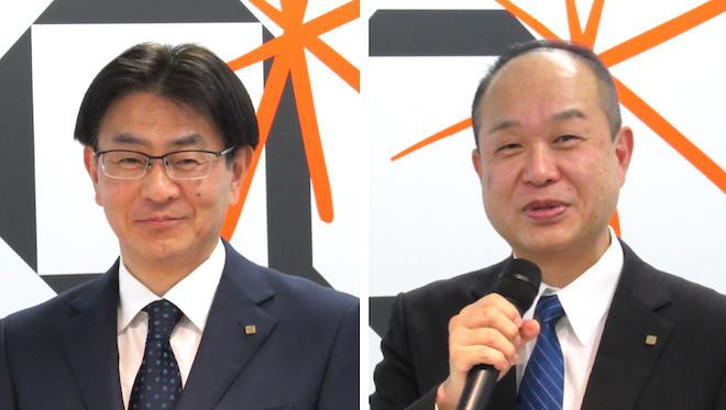 伊奈社長(左)と長井社長