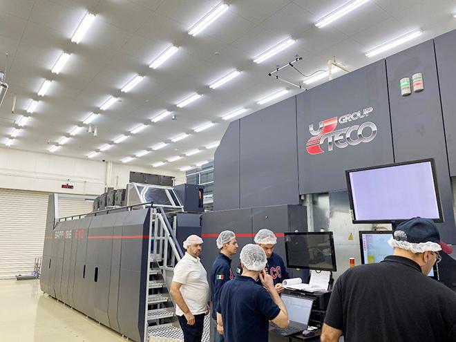 大口工場で製造体制に入った「UTECO Sapphire EVO Press」