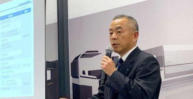 インプレミアNS40の導入目的について説明する山崎社長