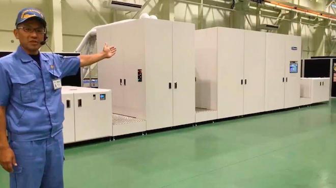 オンラインでMJP30AXFの印刷デモを披露