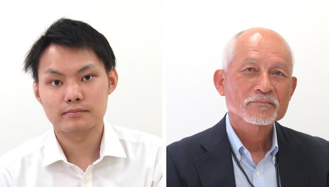 赤澤氏と内田顧問(右)