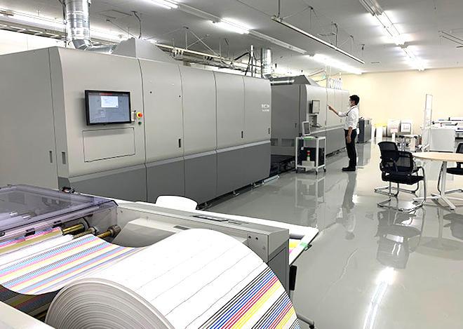 データや用紙の事前提供でRICOH Pro VC70000によるサンプル作成にも対応