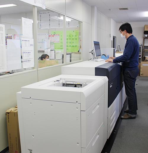 3台のオンデマンド印刷機を保有する