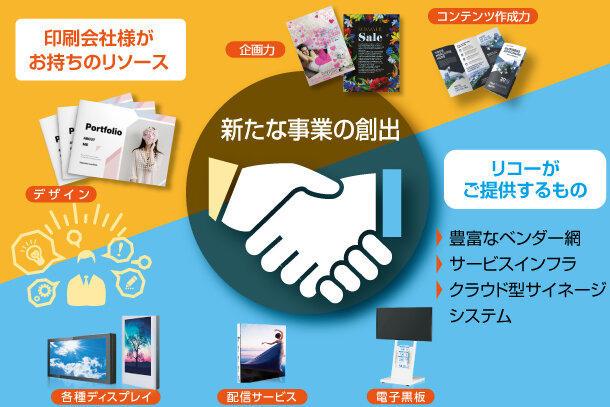 コンセプトは「印刷会社×リコージャパン」